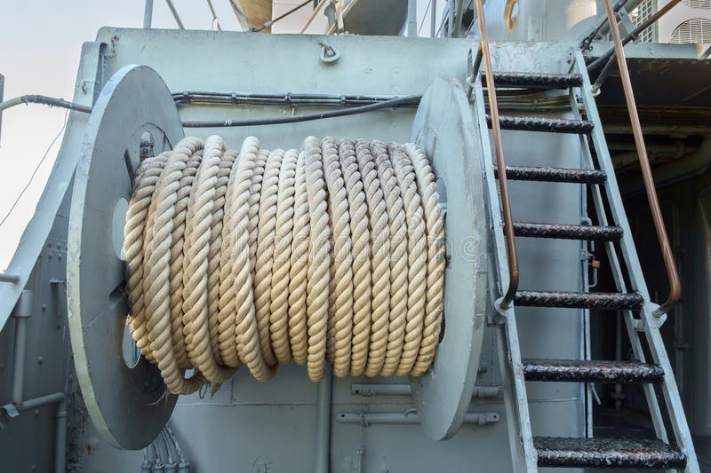 Roll of rope. stock photos