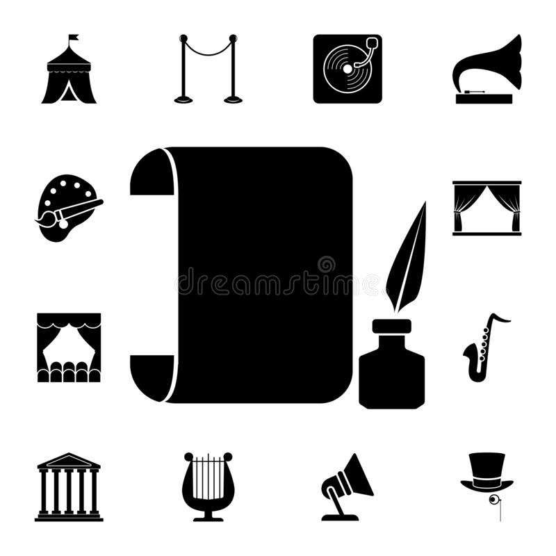 roll sheet and ink icon. Detailed set of theater icons. Premium graphic design. One of the collection icons for websites, web vector illustration