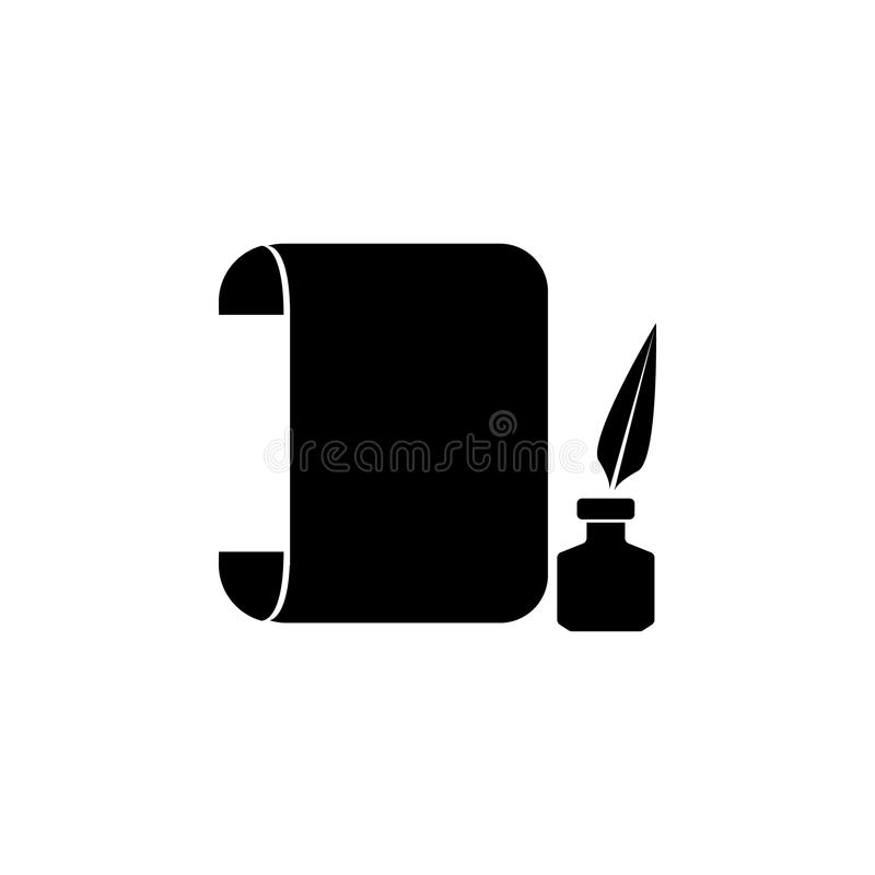 roll sheet and ink icon. Element of theater and art illustration. Premium quality graphic design icon. Signs and symbols collectio vector illustration