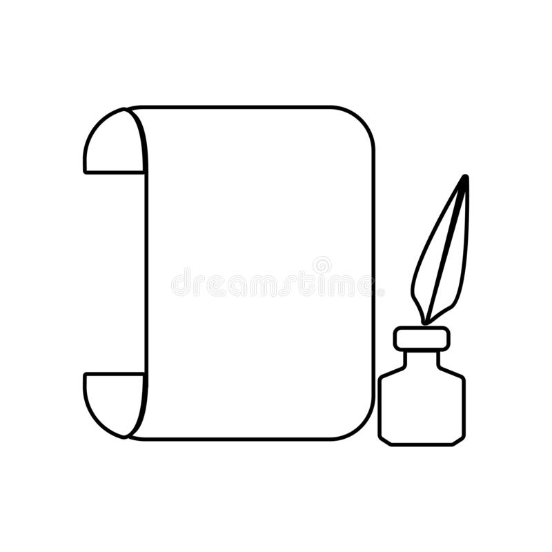 roll sheet and ink icon. Element of Theatre for mobile concept and web apps icon. Outline, thin line icon for website design and royalty free illustration