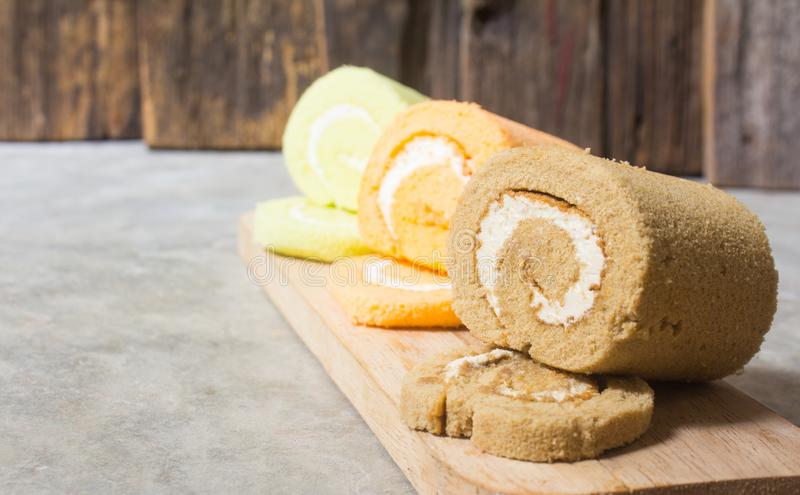 Roll small cake stock photo