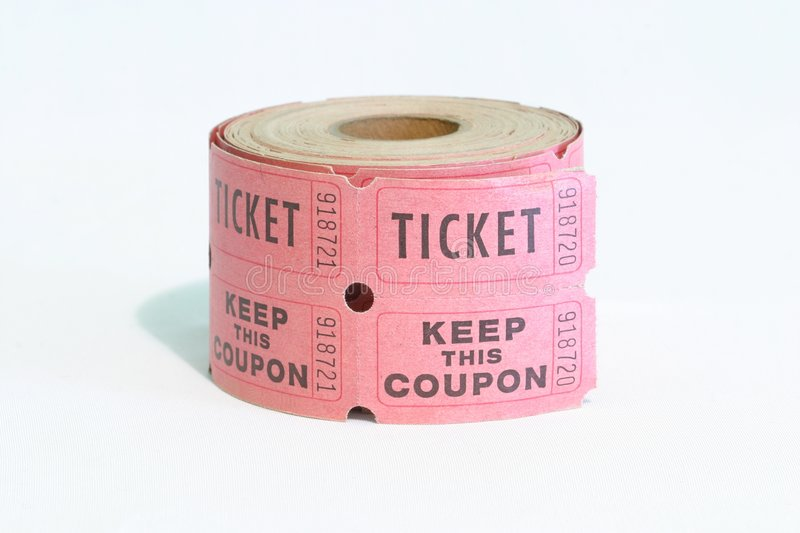Roll of Tickets stock photos