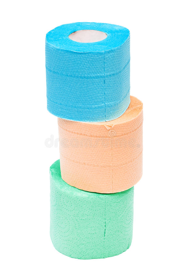 Roll of a toilet paper. On a white background royalty free stock photos