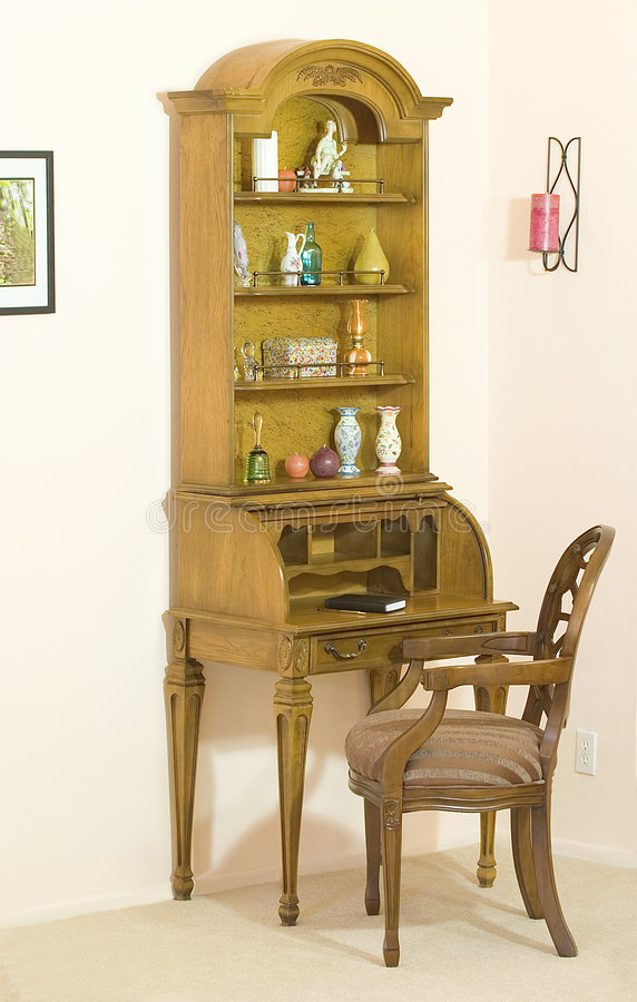 Download Roll Top Desk With Hutch Open Stock Photo - Image: 1840090