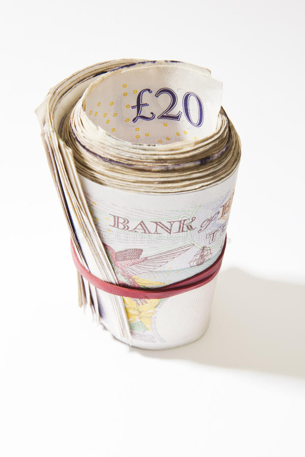 Download Roll of Twenty Pound Notes stock image. Image of wealth - 29161339