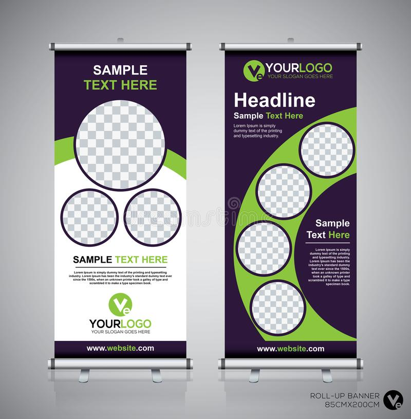 Free Roll Up Banner Design Template, Vertical, Abstract Background, Pull Up Design, Modern X-banner, Rectangle Size. Stock Photos - 107543883