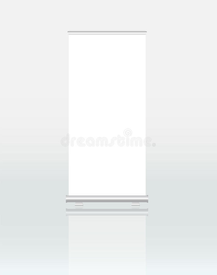 Roll up banner dispaly royalty free illustration