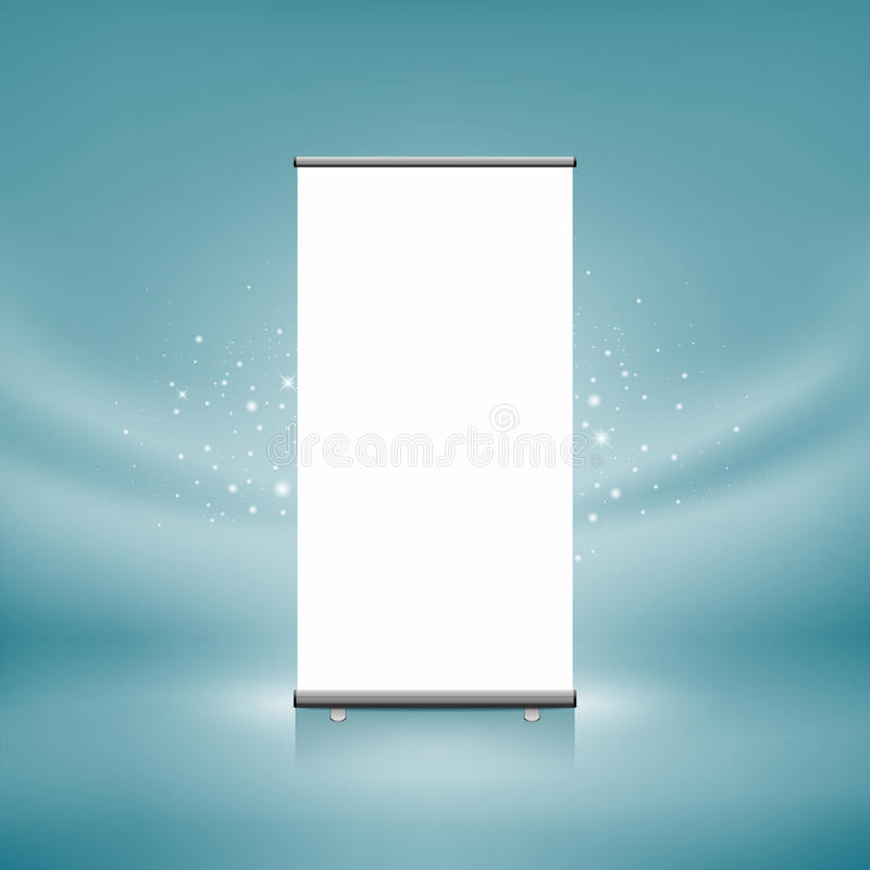Download Roll up banner display stock illustration. Image of picture - 25880587