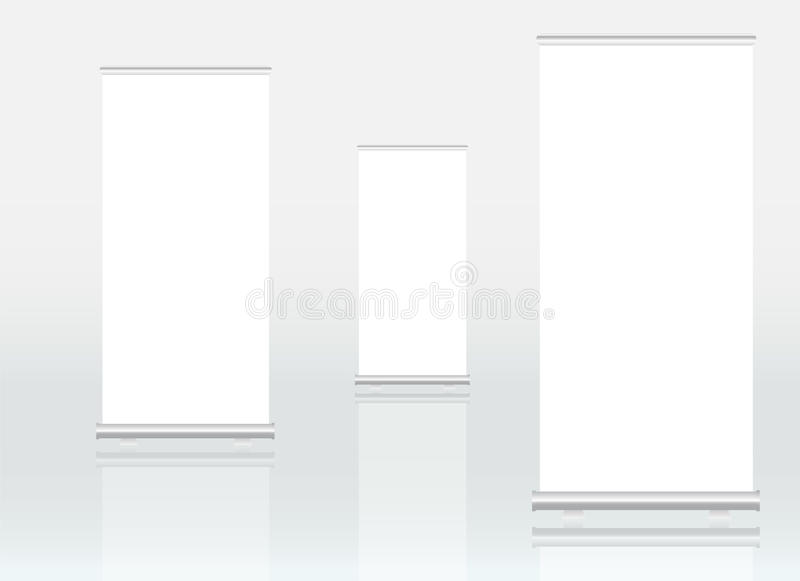 Roll up banner display vector illustration