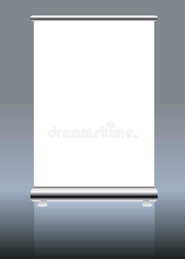 Roll up banner, free space for pics royalty free illustration