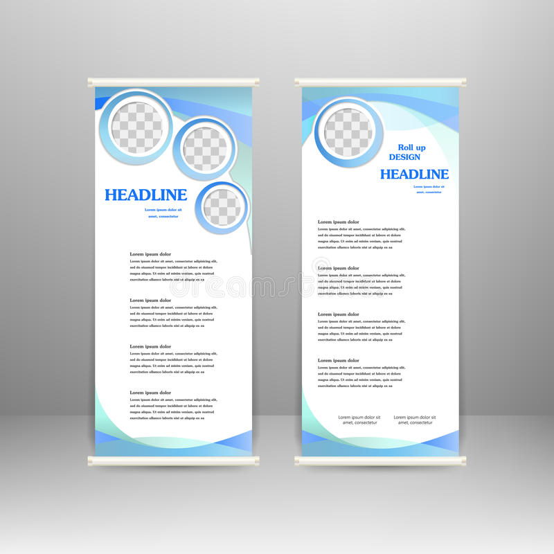Roll up banner royalty free illustration