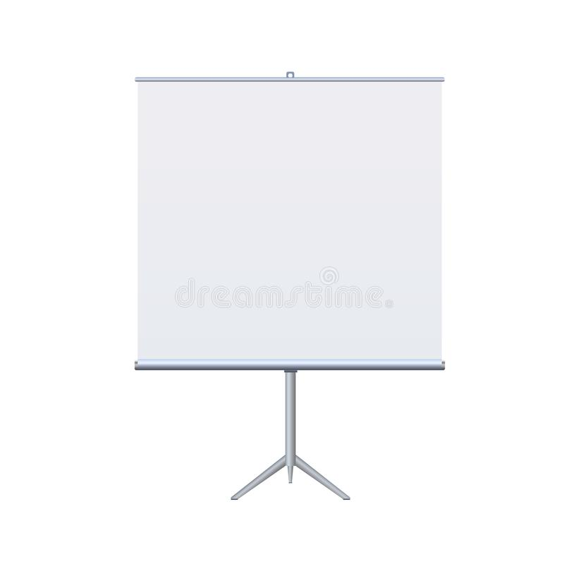 Roll Up Banner Stand on isolated clean background4 royalty free illustration