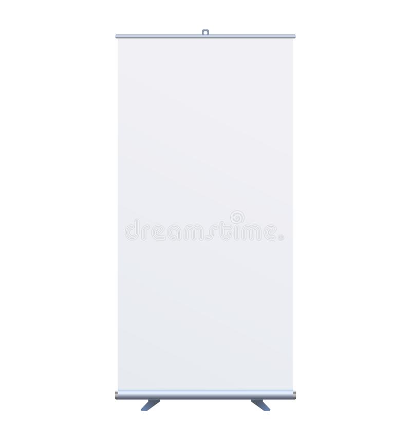 Roll Up Banner Stand on isolated clean background7 stock illustration