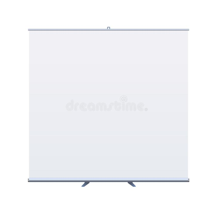 Roll Up Banner Stand on isolated clean background5 royalty free illustration