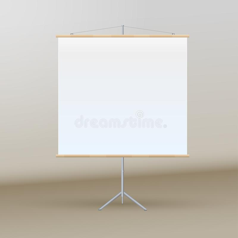 Roll Up Banner Stand on isolated clean background8 stock illustration