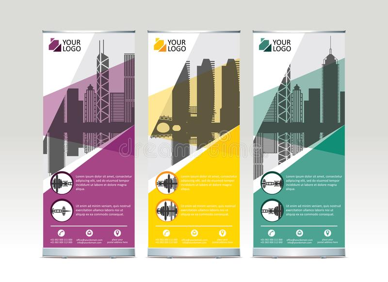 Roll up banner stand template design. Vector illustration vector illustration