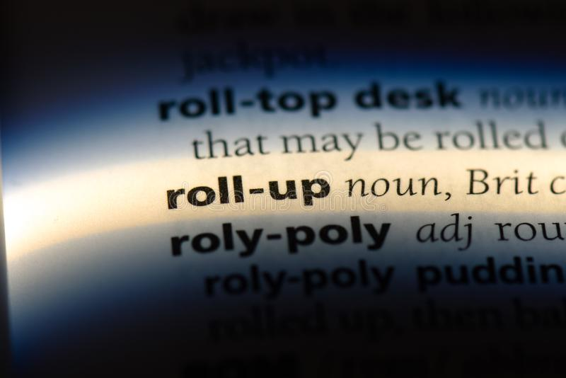 roll up stock images