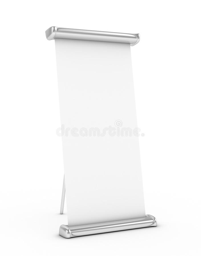 Download Roll Up stand stock illustration. Image of placard, poster - 28218291