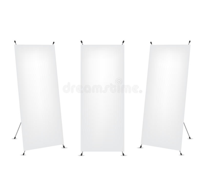 Roll up x-stand banner stock illustration
