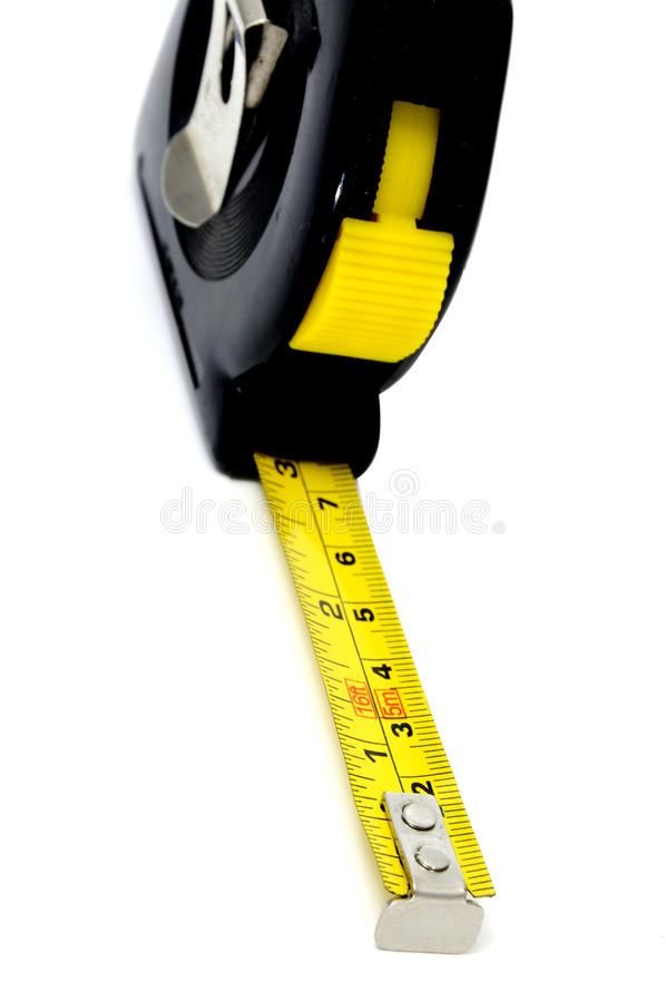 Roll-up tape measure royalty free stock photography