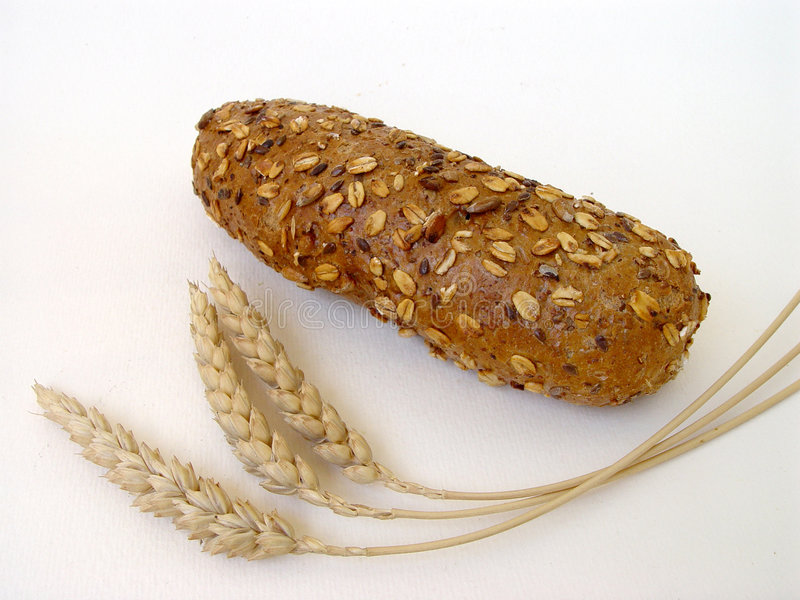 Roll & wheat royalty free stock images
