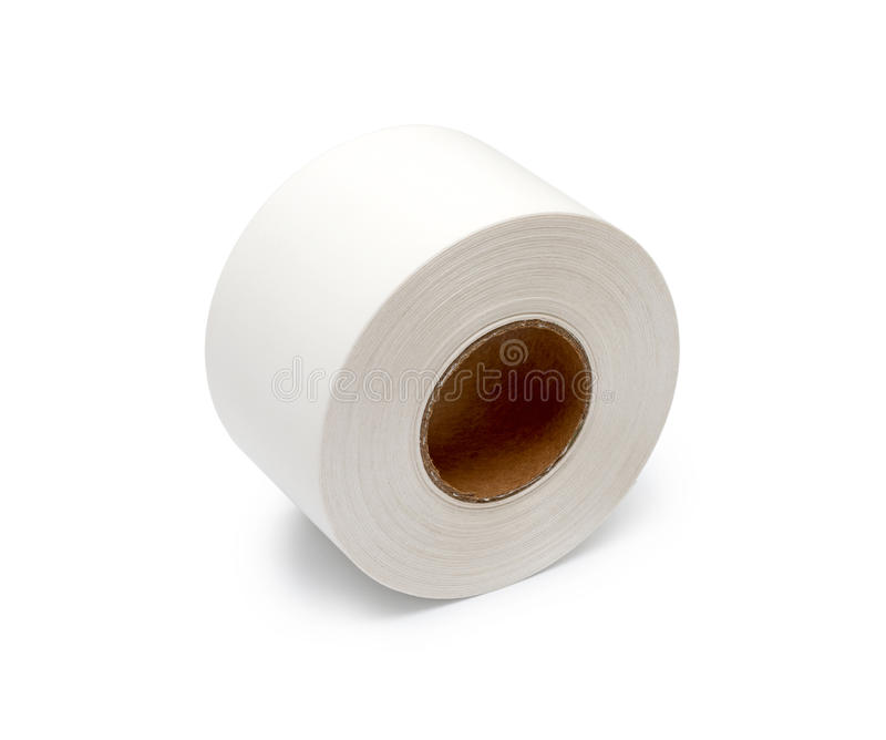 Roll white ribbons royalty free stock photo