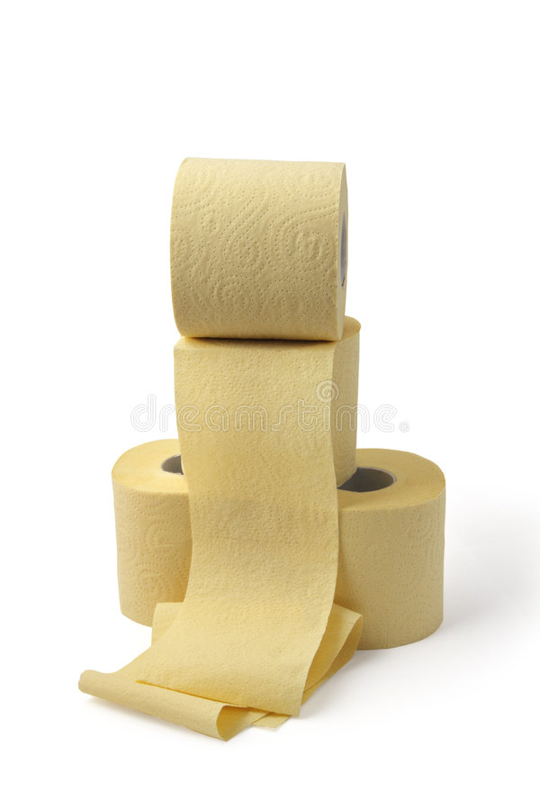 Download Roll Of Yellow Toilet Paper Stock Photo - Image: 8926318