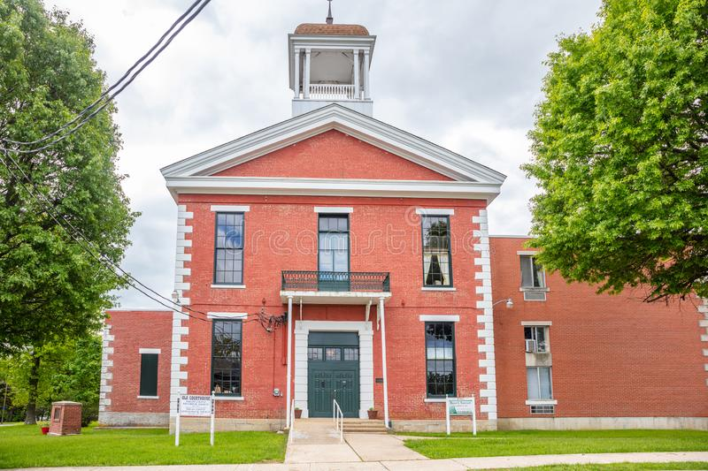 The Old Phelps County Courthouse located in Rolla, Missouri, US. Rolla, Missouri, USA. May 12, 2019. The Old Phelps County Courthouse located in Rolla. It is a royalty free stock photography