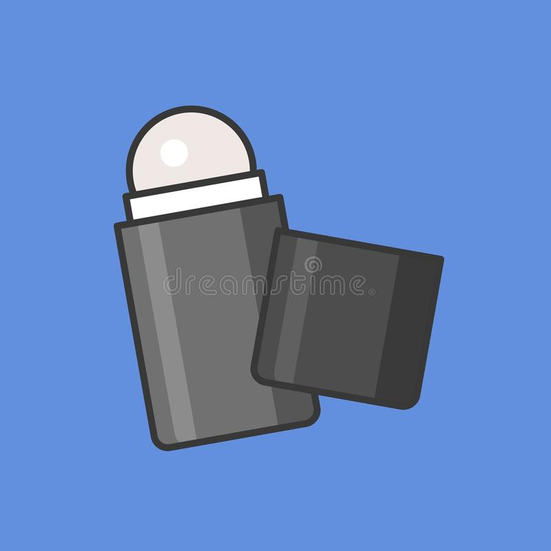 Rolle auf desodorierendem Mittel für Männer lizenzfreie abbildung