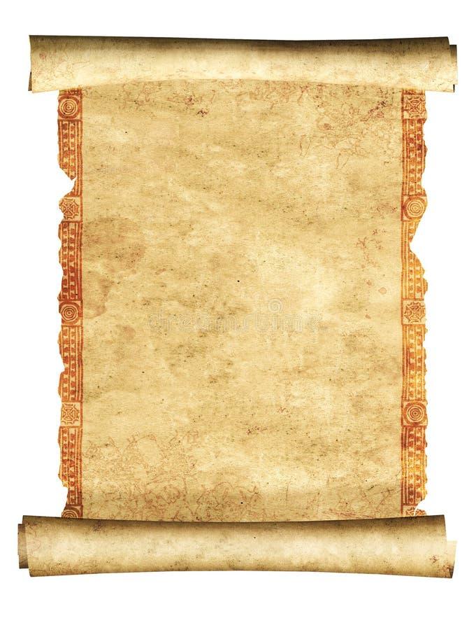 Rolle 3d des alten Pergaments stockbilder