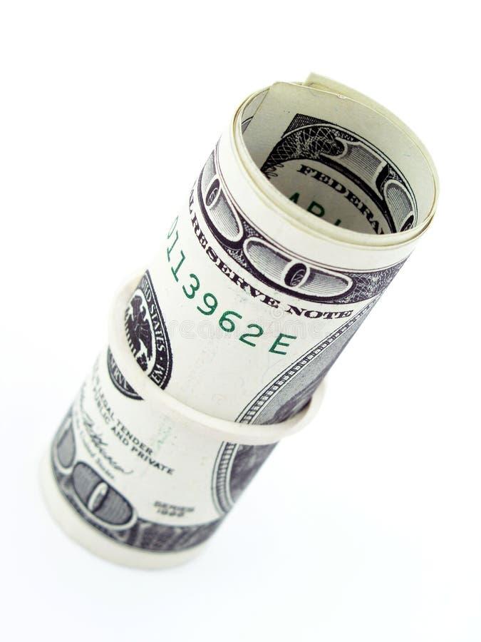 Rolle der Dollarscheine lizenzfreie stockfotos