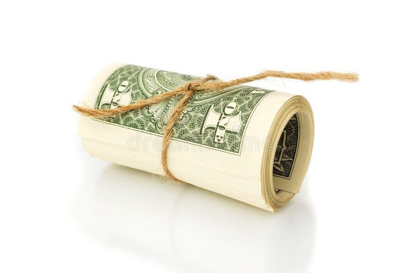 Rolle der ein Dollarscheine stockfoto