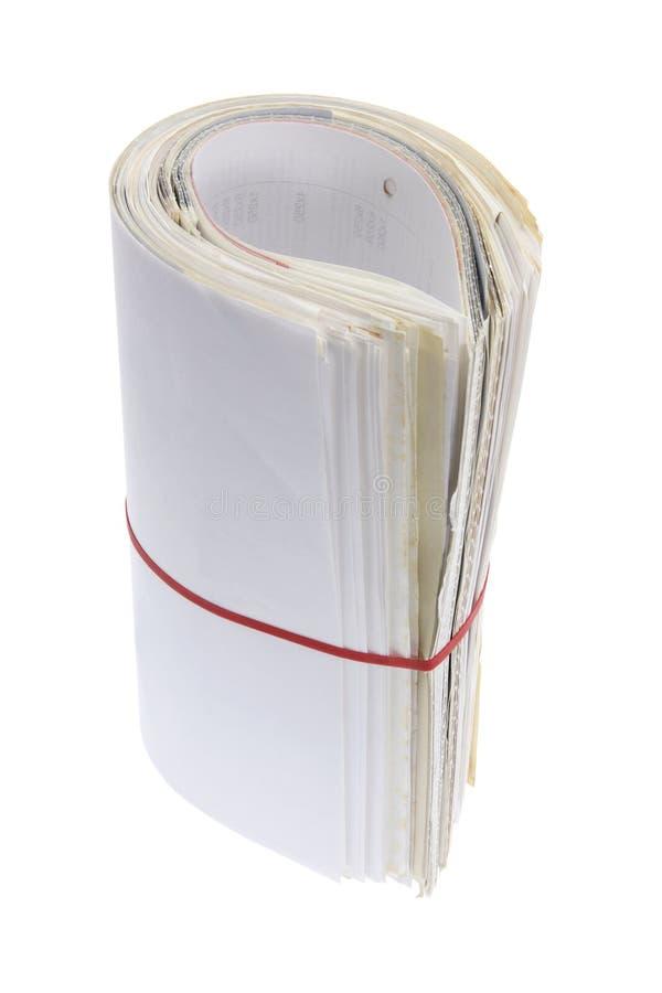 Rolle der Geschäftsdokumente lizenzfreies stockbild