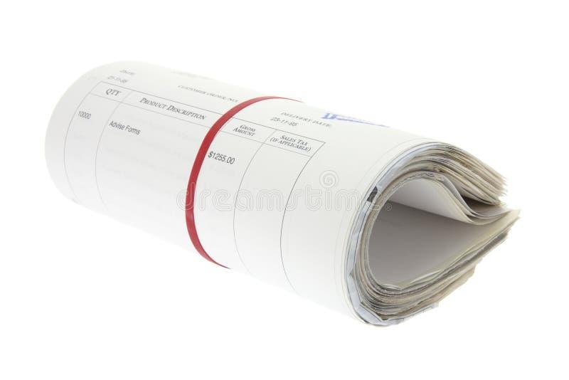 Rolle der Geschäftsdokumente lizenzfreies stockfoto