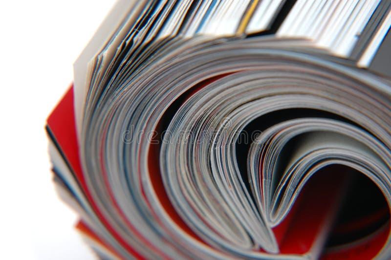 Rolle der Zeitschriften-Nahaufnahme stockfotografie