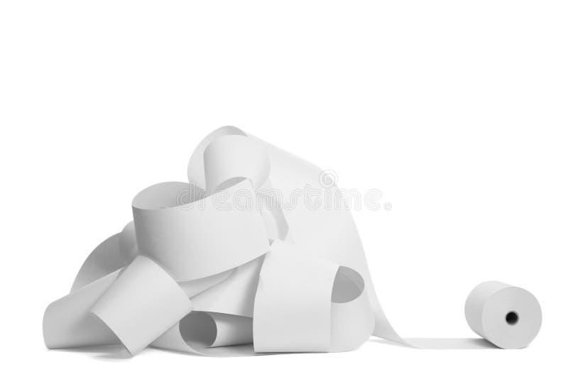 Rolle des Papierbuchhaltungbürogeschäfts stockfoto
