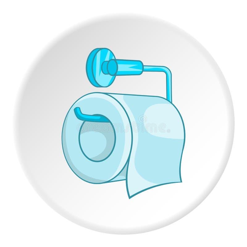 Rolle des Toilettenpapiers auf einer Metallhalterikone lizenzfreie abbildung