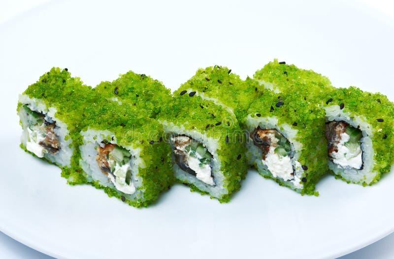 Rolle machte Kaviar stockfotografie
