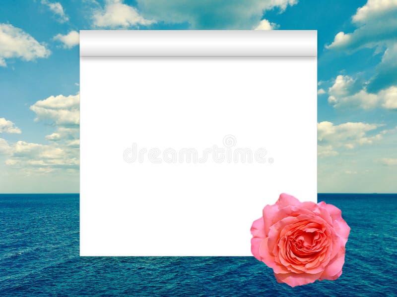 Rolle, Rose und Meer stockfotos