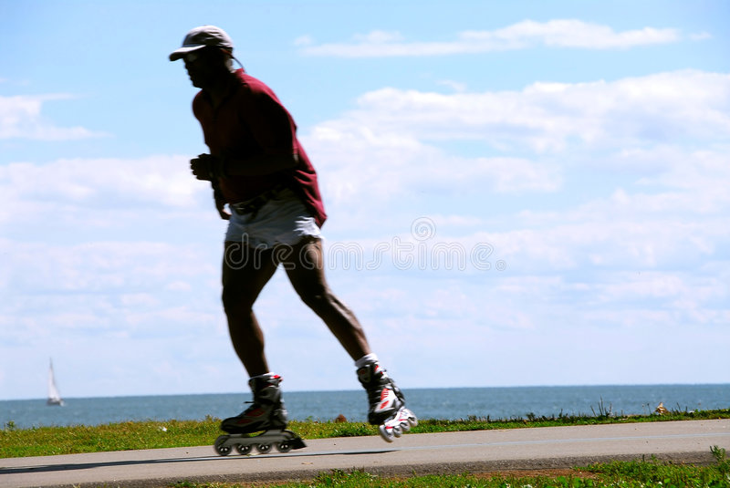 Download Rolleblading stock image. Image of african, outside, healthy - 1414317