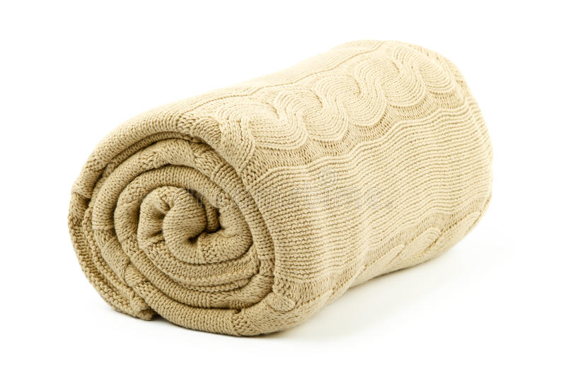 Download Rolled beige blanket stock photo. Image of beige, rolled - 28155530
