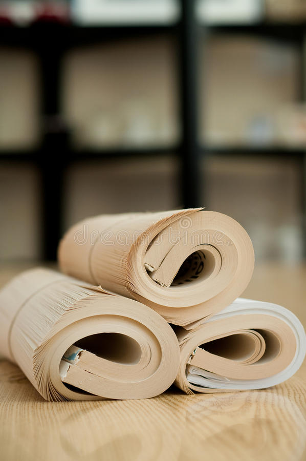 Rolled book stock photography
