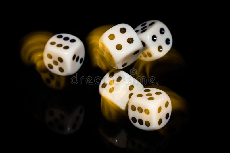 Rolled Dice stock images