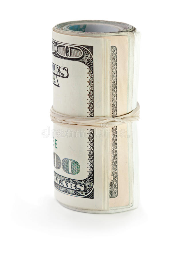 Rolled Dollar Currency Royalty Free Stock Photos