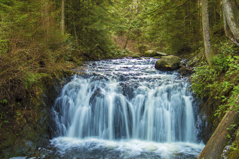 Rolled falls BC Canada stock photos
