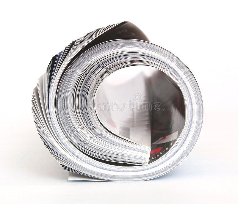 Download Rolled magazine stock image. Image of concept, journal - 2346489