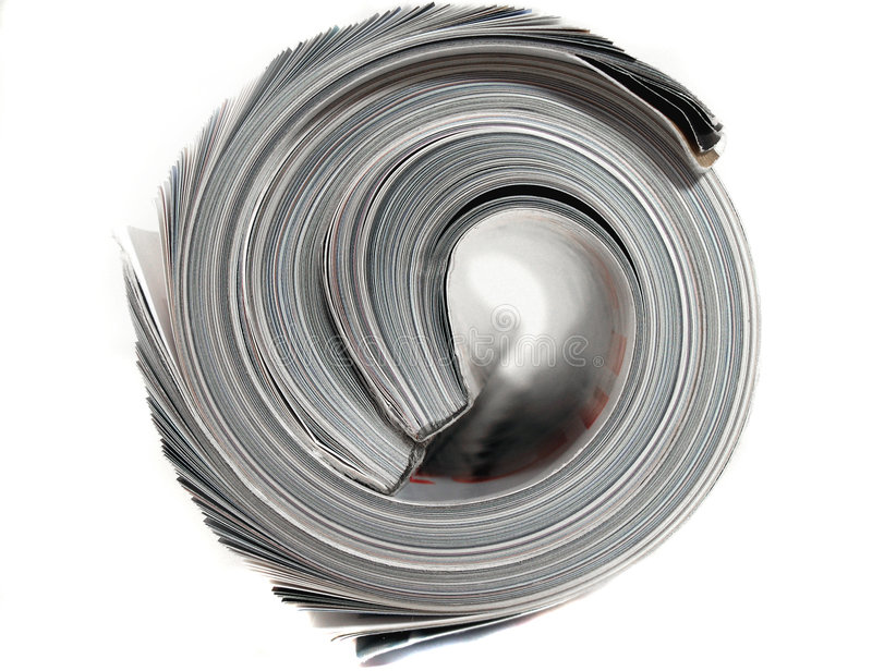 Rolled magazine royalty free stock images