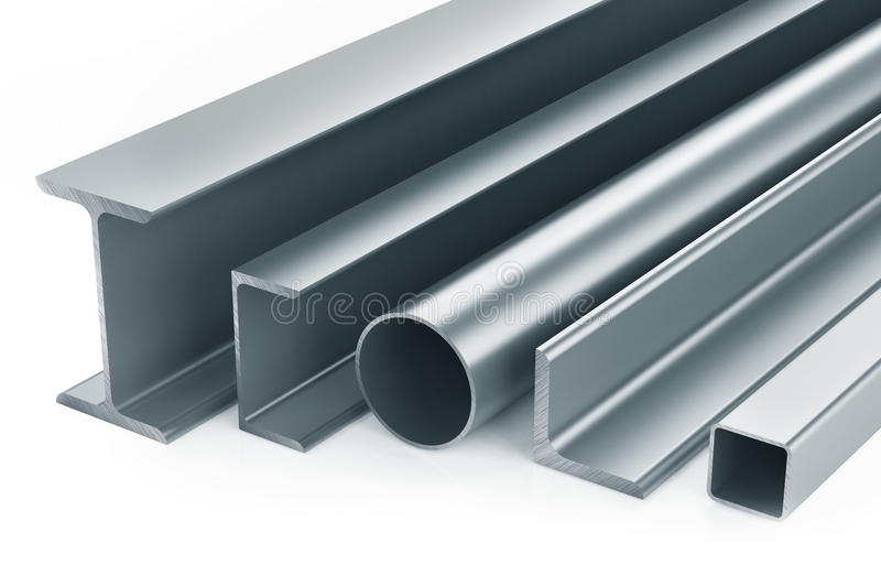 Rolled metal products royalty free illustration