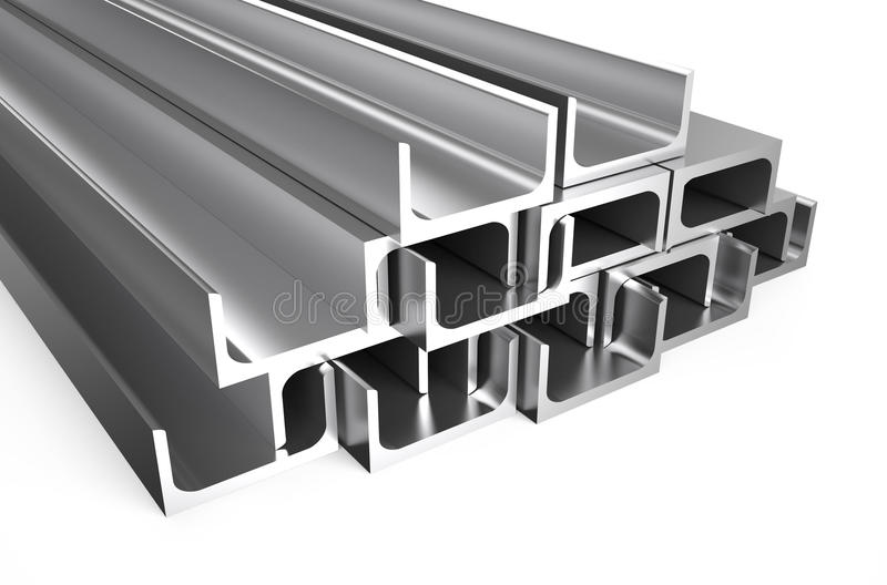 Rolled Metal U Bar Stock Illustration Illustration Of