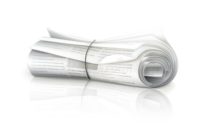 Download Rolled Newspaper Royalty Free Stock Photos - Image: 24467118